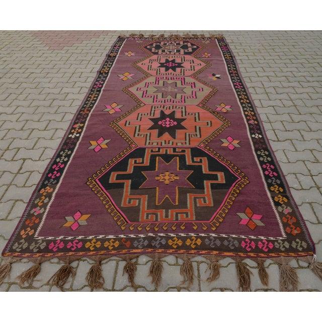 Hand-Woven Turkish Runner - 5′6″ × 13′2″ - Image 4 of 10