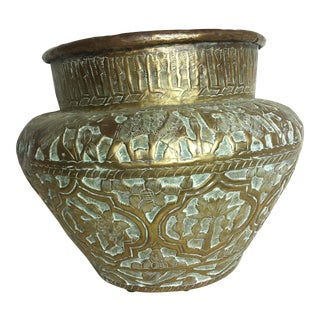 18th Century Antique English Brass Pot For Sale