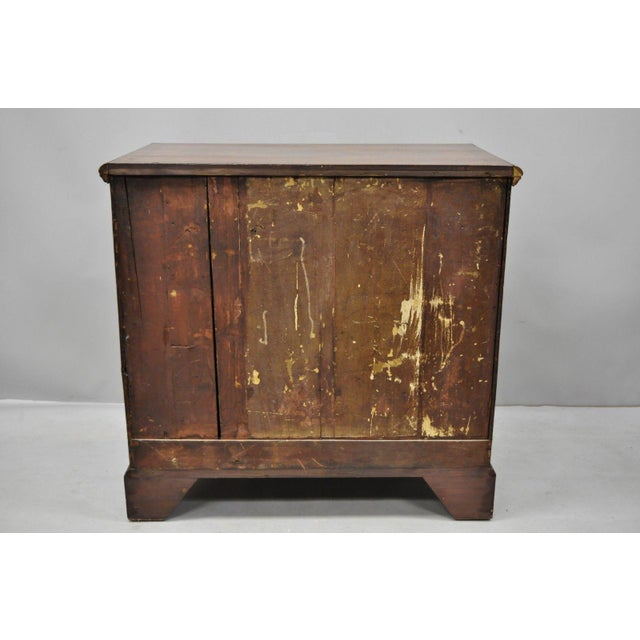 19th Century Queen Anne Burr Walnut Inlaid Chest of Drawers For Sale - Image 11 of 13