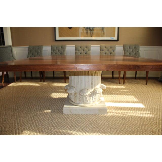 Custom Made Walnut Dining Table - Image 2 of 8