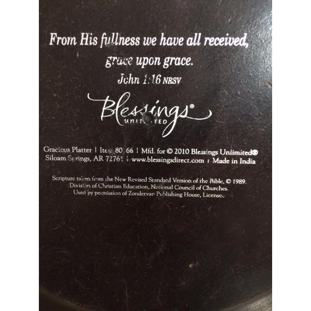 """Blessings Unlimited """"Gracious Platter"""" Tray - Image 6 of 7"""