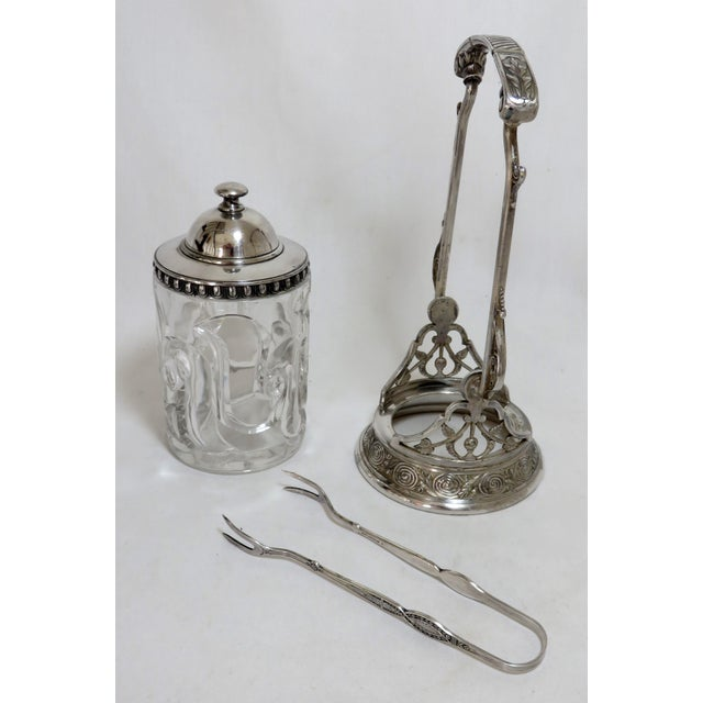 1880s Victorian Reed & Barton Silver Plate Pickle Castor