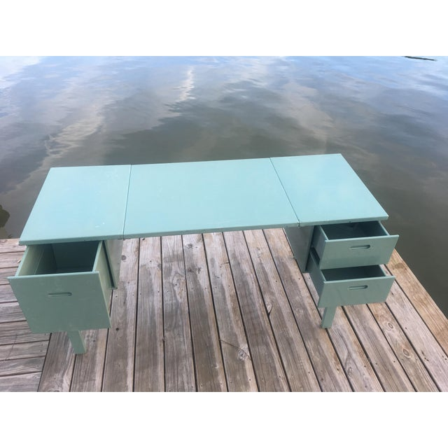 Industrial 20th Century Industrial Aluminum Military Campaign Tanker Desk For Sale - Image 3 of 12