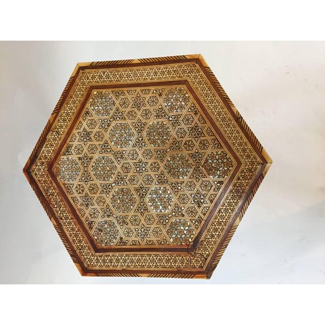 Islamic Egyptian Octagonal Side Tilt-Top Table For Sale - Image 3 of 10