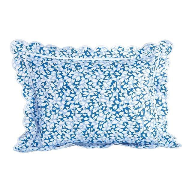 Petals Sham in Blue in Standard For Sale