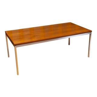 Florence Knoll Walnut Coffee Table For Sale