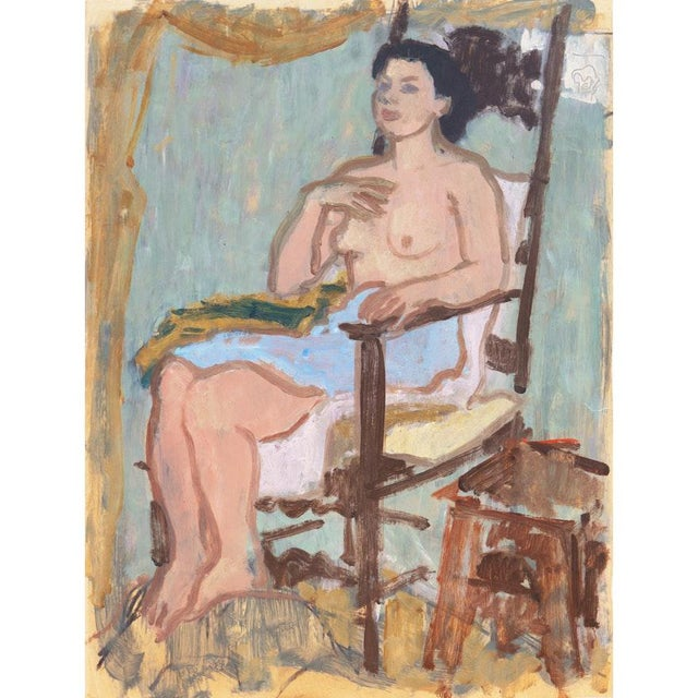Vintage Mid-Century Victor DI Gesu Oil Painting For Sale - Image 10 of 10