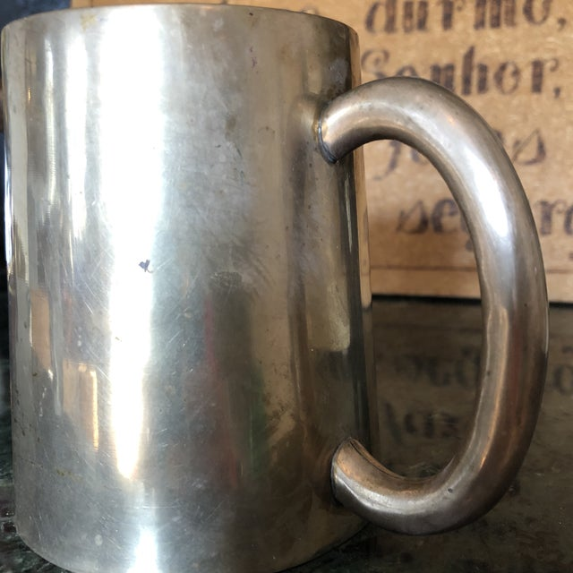 1950s Solid Brass Artist Cup For Sale - Image 4 of 7