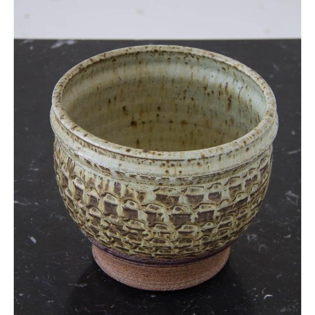 Textured Stoneware Garden Pot - Image 7 of 8