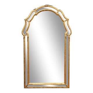 Italian Gilt Console Wall Mirror For Sale