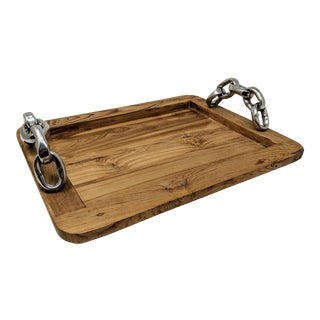 Ralph Lauren Inspired Wooden Tray For Sale