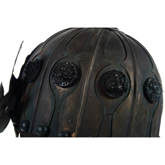 Bronze Chinese Bronze Warrior Helmet For Sale - Image 7 of 9