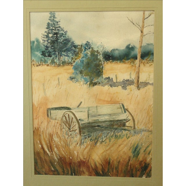 Impressionist Landscape Watercolor Painting For Sale - Image 7 of 7