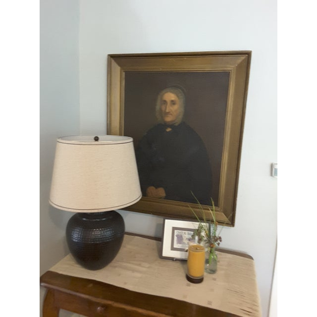 Antique Gothic Maiden Portrait Oil Painting For Sale In Portland, OR - Image 6 of 8