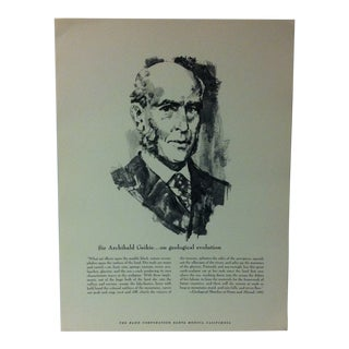 """1962 """"Sir Archibald Geikie - on Geological Evolution"""" The Rand Corporation Famous People in History Print For Sale"""