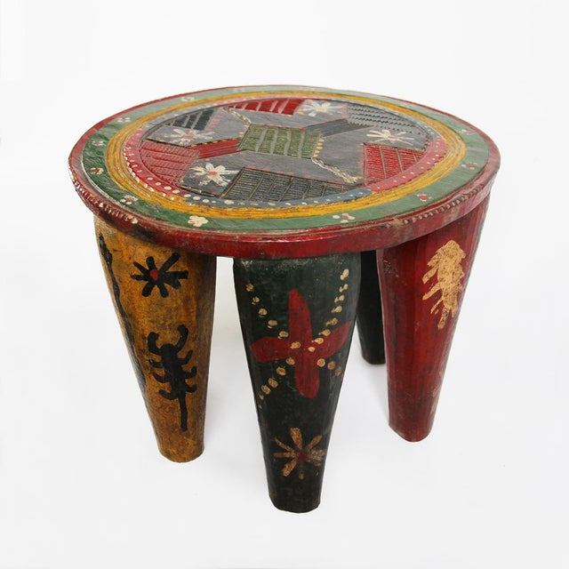 African Old Nupe Stool Nigeria For Sale - Image 3 of 5