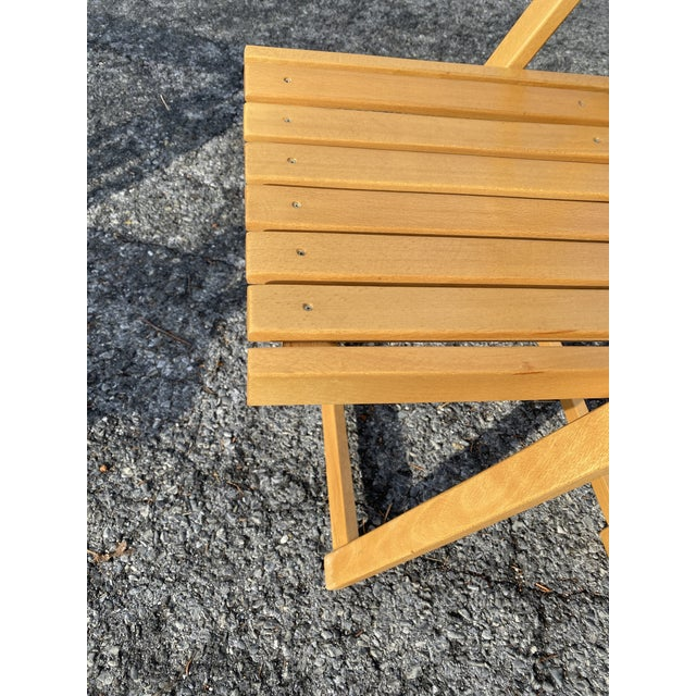Vintage Maple Folding Chairs - Set of 4 For Sale - Image 6 of 11