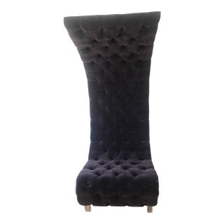 Purple Velvet Tufted Accent Chair