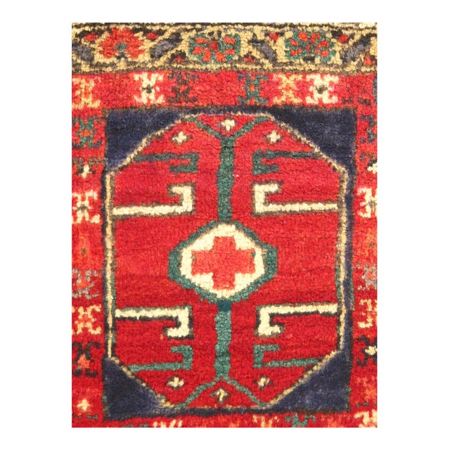 Persian Early 20th Century Antique Persian Hamadan Rug - 2′ × 2′ For Sale - Image 3 of 4