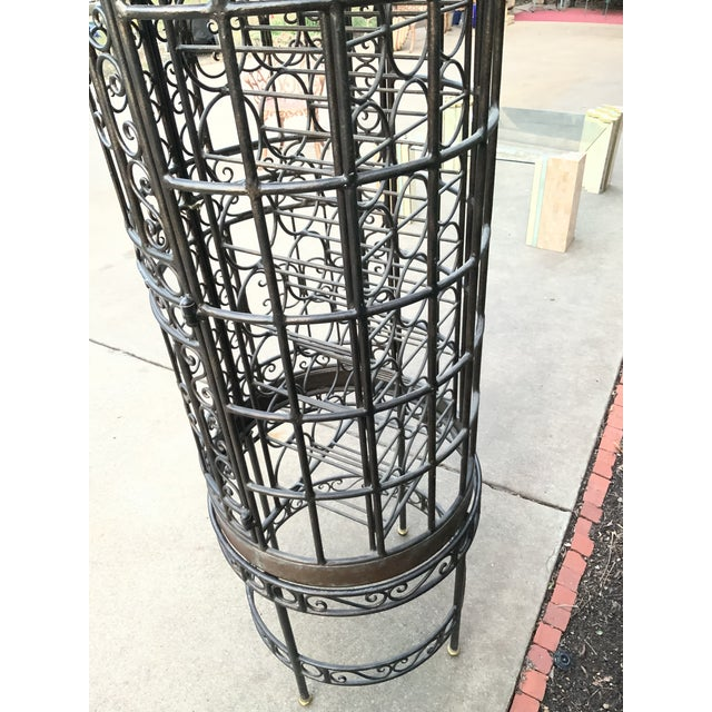Copper Maitland-Smith Copper Domed and Iron Wine Rack For Sale - Image 8 of 12
