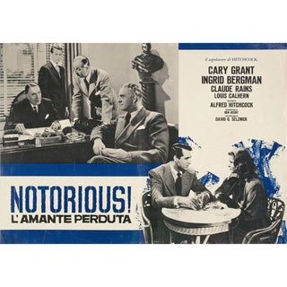 Notorious R1950s Italian Fotobusta Film Poster For Sale