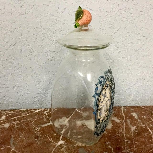 Italian Glass Hand Blown Drug Jar For Sale - Image 4 of 7