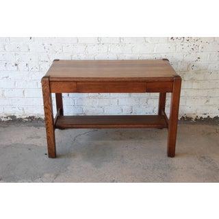 Antique American Arts & Crafts Period Mission Oak Desk Preview