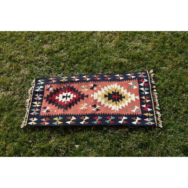 Vintage Hand Knotted Traditional Southwestern Style Anatolian Kilim Rug For Sale - Image 11 of 13