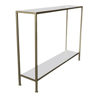 Marcelo Console Table With Antique Mirror Shelving For Sale