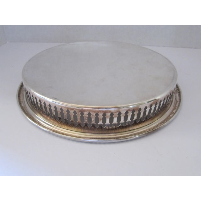 Round Silver-Plate Serving Tray - Image 3 of 4
