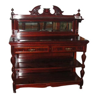 19th Rosewood Carved Server Credenza