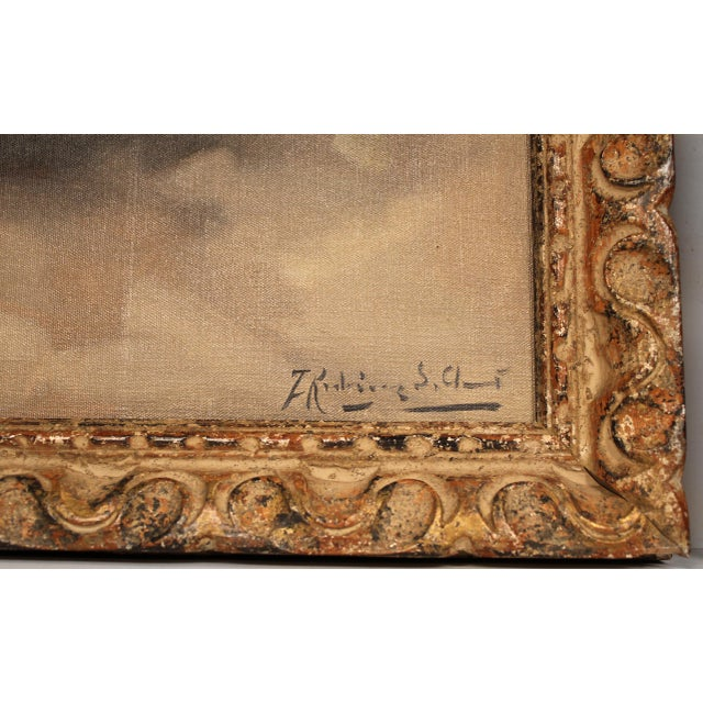 1940s Francesco Rodriguez San Clemente Framed Oil Paintings - a Pair For Sale - Image 5 of 6