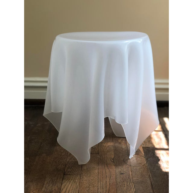 Acrylic Handkerchief Table For Sale - Image 4 of 13