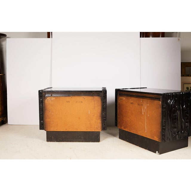 Mid 20th Century Midcentury Pair of Brutalist Nightstands For Sale - Image 5 of 13