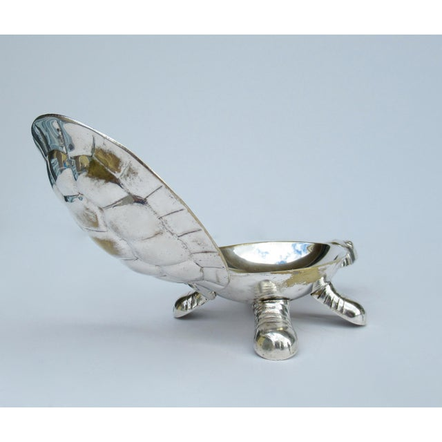 Vintage Silver Plate Lidded Turtle Keepsake Box For Sale - Image 9 of 13