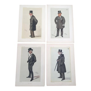 1880's Original Vanity Fair Men of the Day Lithograph Prints - Set of 4 For Sale