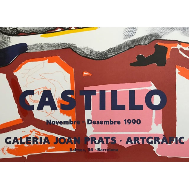 1990s Jorge Castillo Joan Prats Gallery - Barcelona Lithograph Poster For Sale - Image 4 of 7