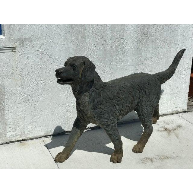 1950s Vintage Bronze Dog Retriever For Sale - Image 5 of 9