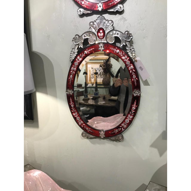 Pair Art Deco Venetian Mirrors For Sale - Image 4 of 11