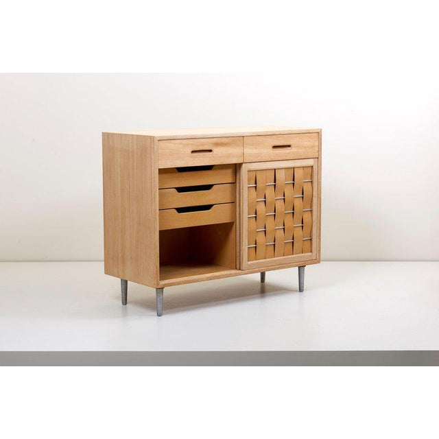 Aluminum Edward Wormley for Dunbar Credenza Signed, Us, 1960s For Sale - Image 7 of 12