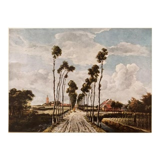 """""""The Avenue of Middelharnis"""" Vintage Lithograph by Meindert Hobbema For Sale"""