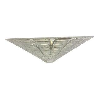 Italian Crystal Handmade Cut Kromo Metal Frame Crystal Wall Sconce For Sale