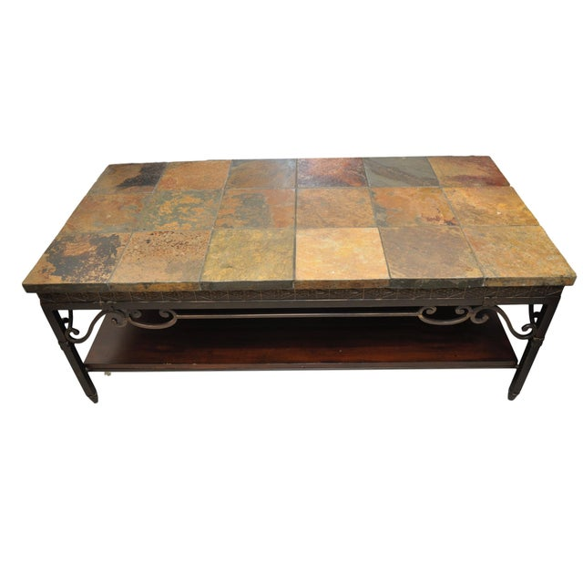 Natural Slate Tile Coffee Table - Image 1 of 4