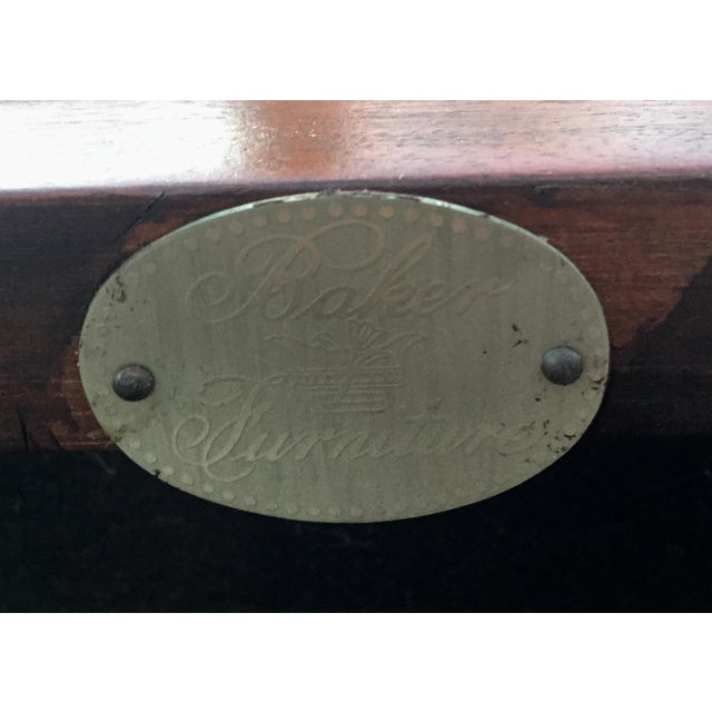 Thomas Pheasant for Baker Scroll Arm Bench For Sale - Image 5 of 5