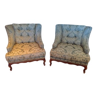 Upholstered Lounge Chairs - A Pair For Sale