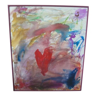 Abstract Expressionist Painting on Board