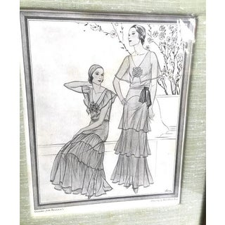 1930s Framed Fashion Print Preview