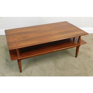 Willett Transitional Solid Cherry Mid Century Modern Coffee Table Preview
