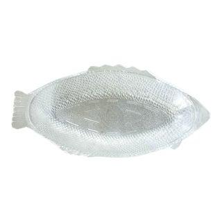 Vintage Glasbake Fish Platter, Signed For Sale