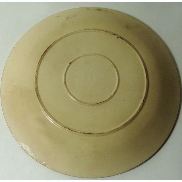 19th Majolica Chesnut Plate - Image 3 of 3